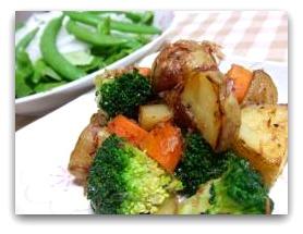いろいろ野菜のバター醤油炒め