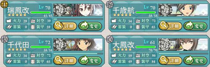 軽空母艦隊+大鳳