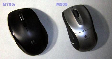 ロジクールM705rとM505