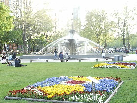 札幌大通公の噴水