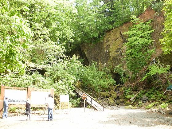 苔の洞門の本当の入り口