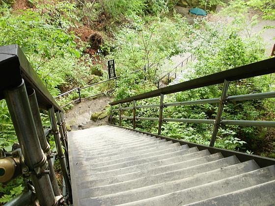 階段を上から見下ろしたところです