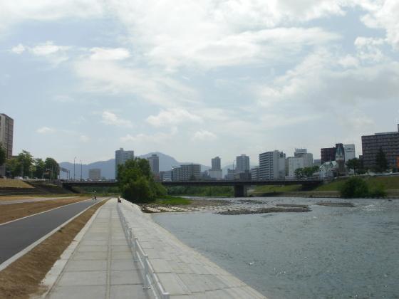 豊平川の穏やかな表情です。