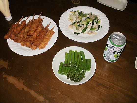 カミさんの手料理の数々
