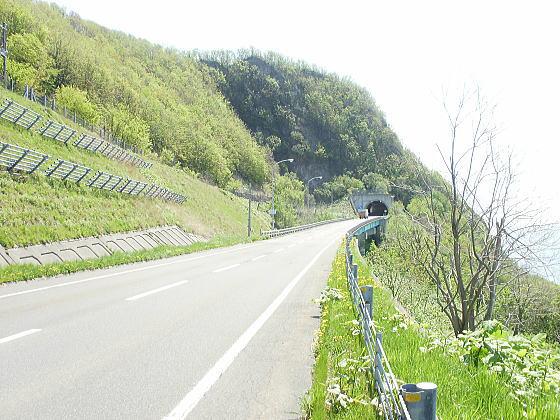 浜益方面に向かう途中。厚田方向の写真を撮る