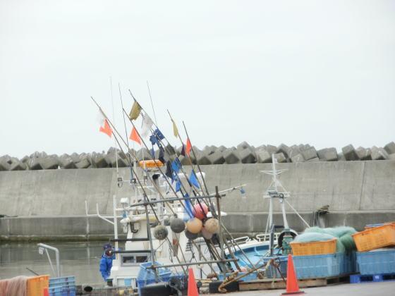 厚田港の風景です