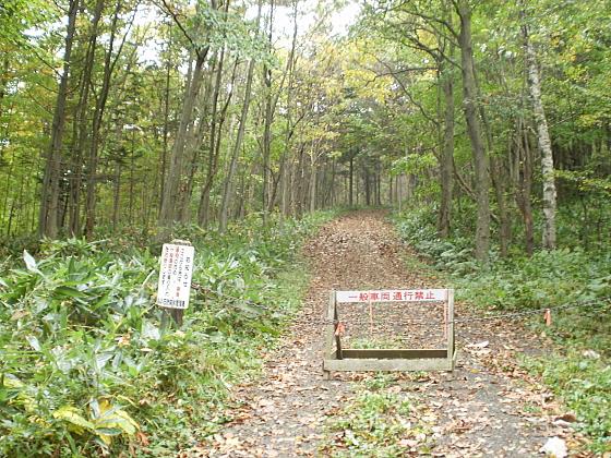 北広島市内にある林道入口です
