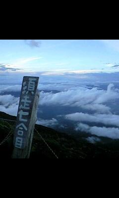 七合目からの雲海