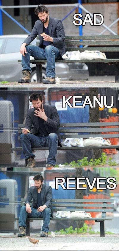 Keanu reeves bench meme