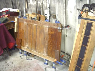 裏板の修理