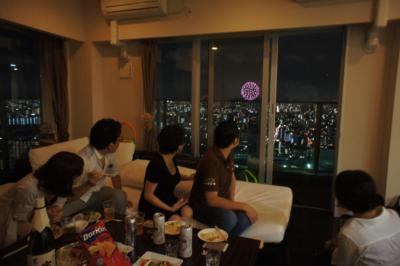 高層住宅から見た隅田川花火大会 ①
