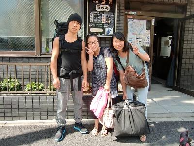 『ほていや』に初めて泊まった中国人留学生