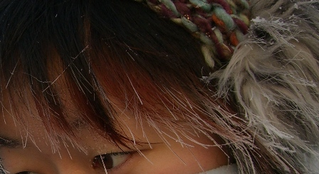 髪の毛も凍る