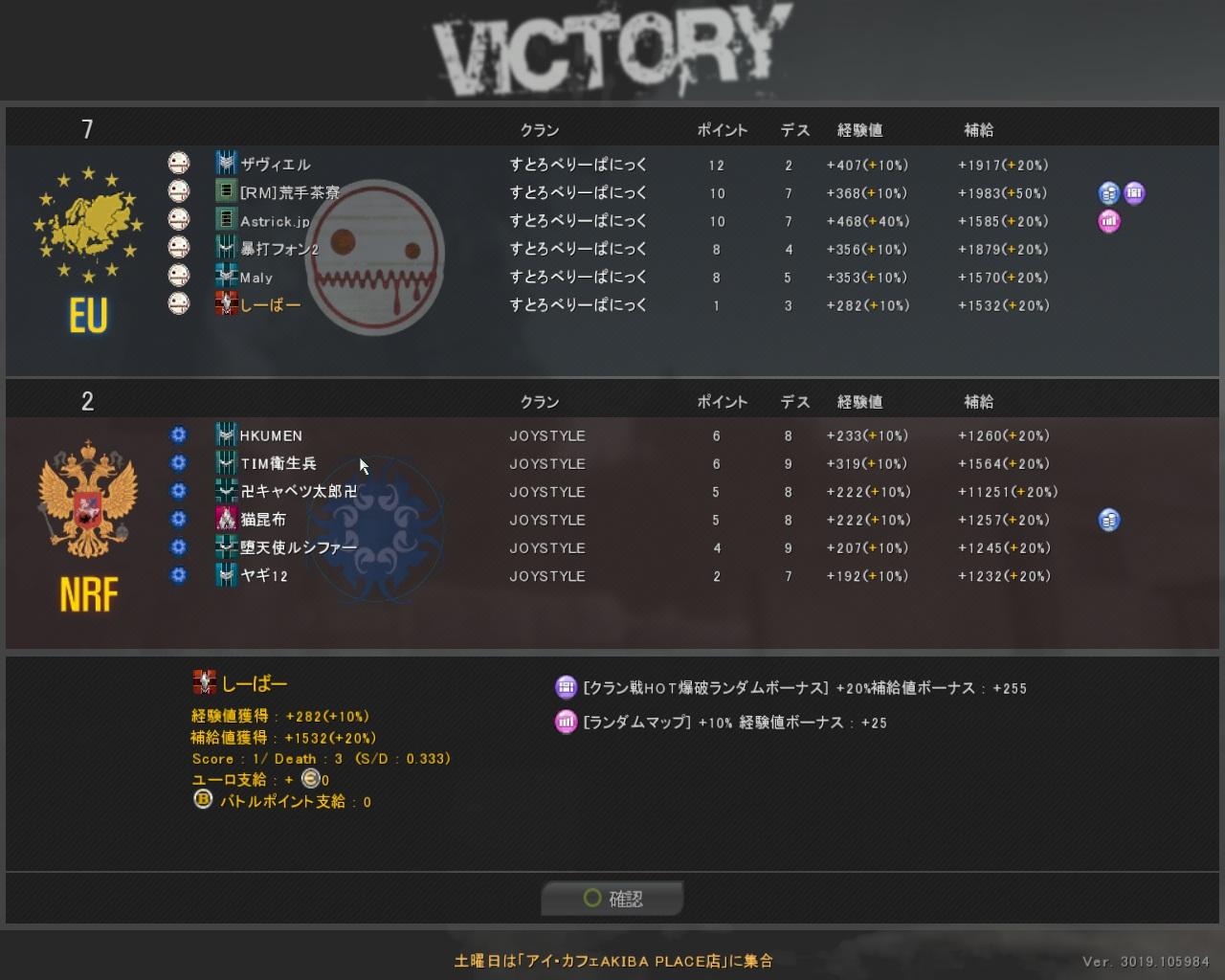 結果 2010・09・09