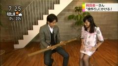 鈴木奈穂子ミニスカ黒ストッキング画像4