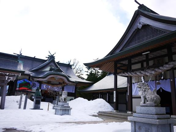 雪景色の神社も素敵~