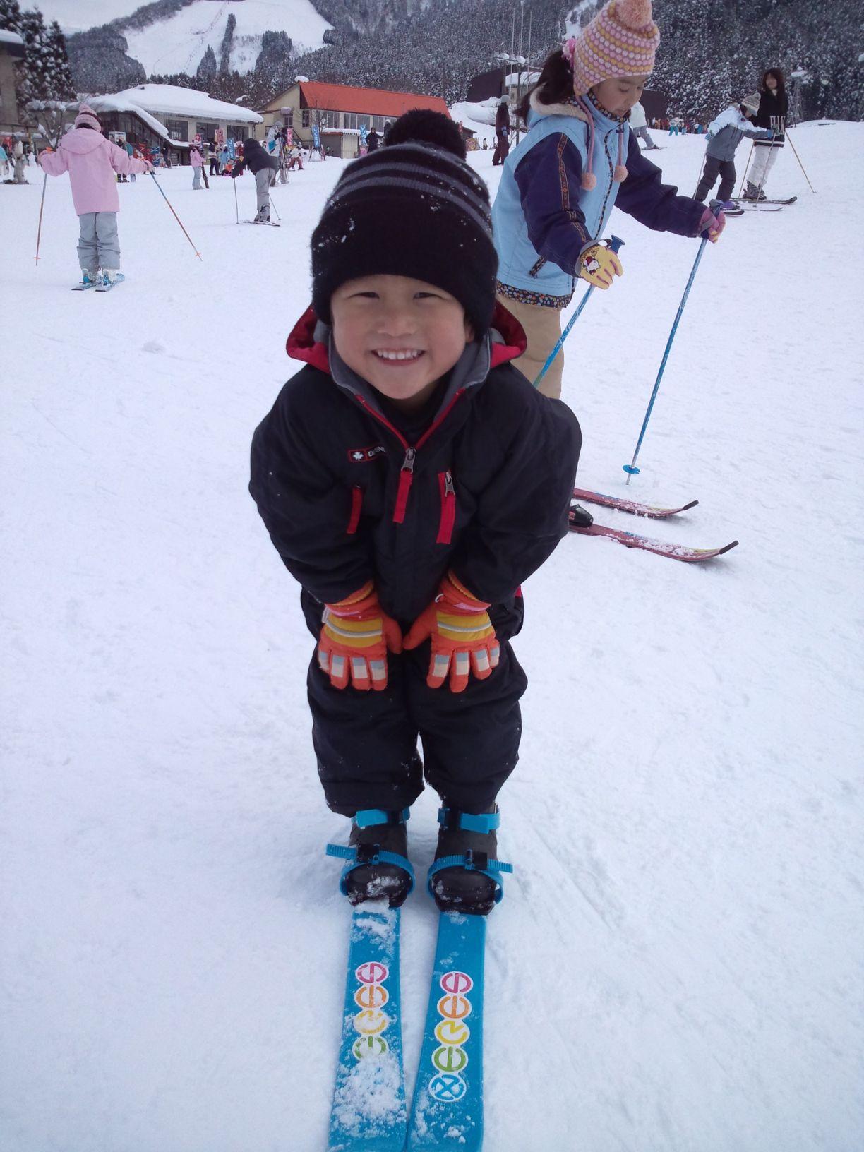 このポーズでスキーをしたよ