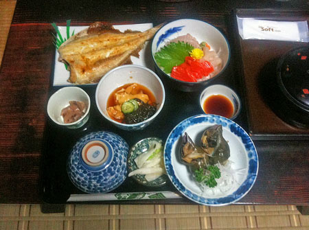 鰺ヶ沢夕食