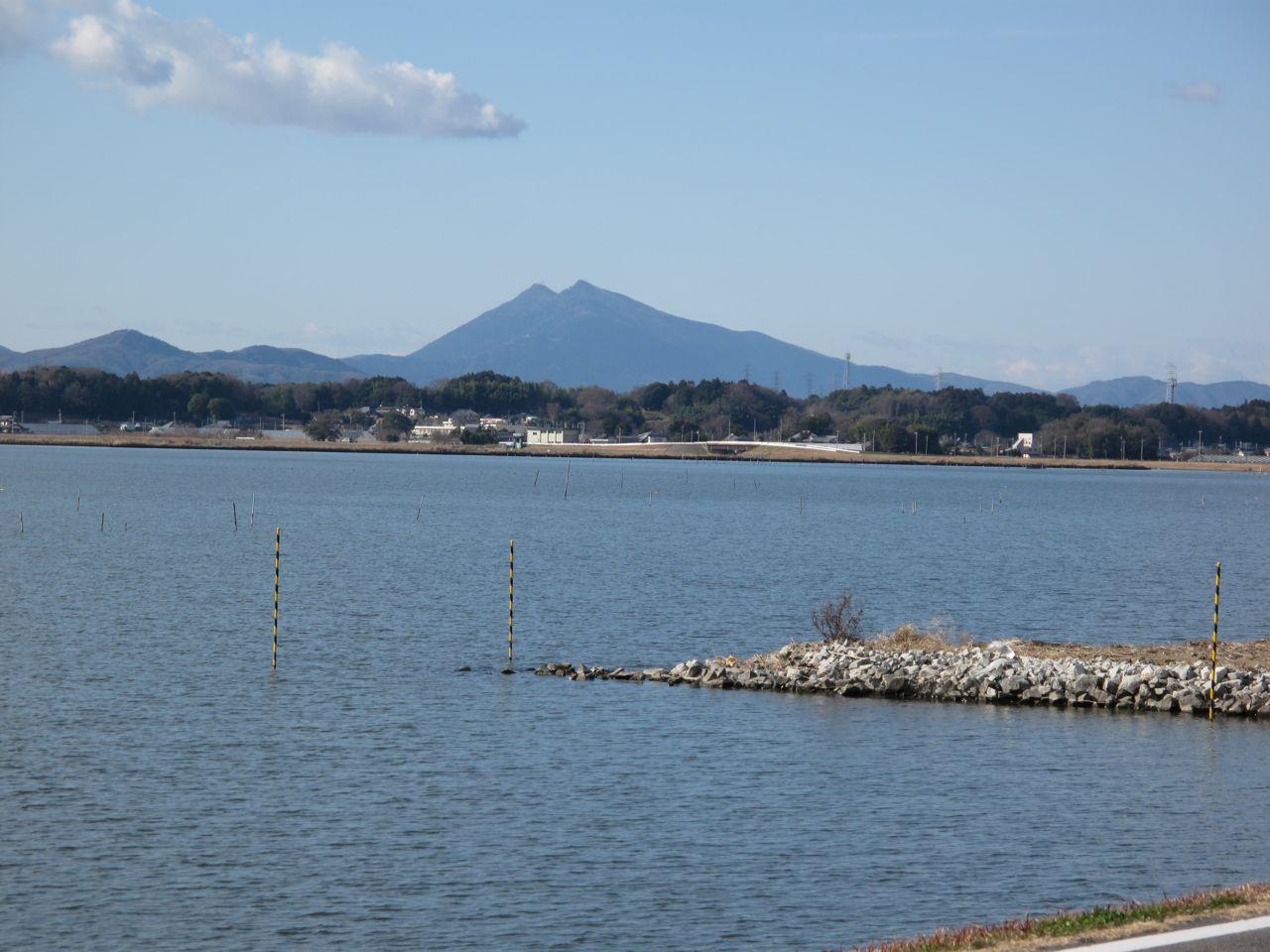 正月の筑波連山