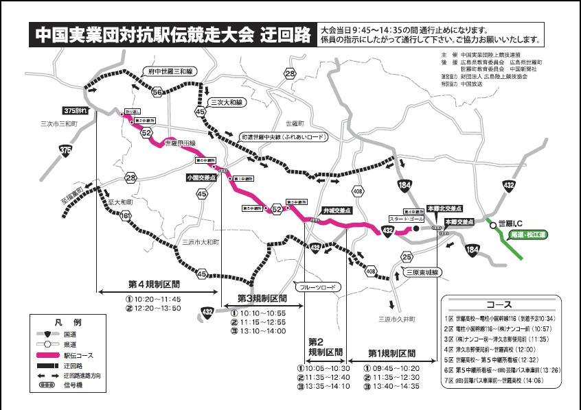 中国実業団駅伝迂回路(2011作成)