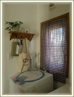洗面所カフェカーテン