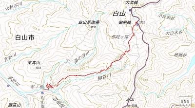 白山 市ノ瀬~山頂 bike & skis