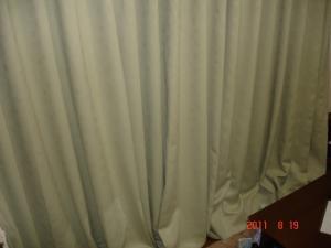 カーテン裾の防寒(断熱)対策