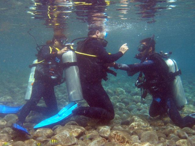 体験ダイビング 水中スキル