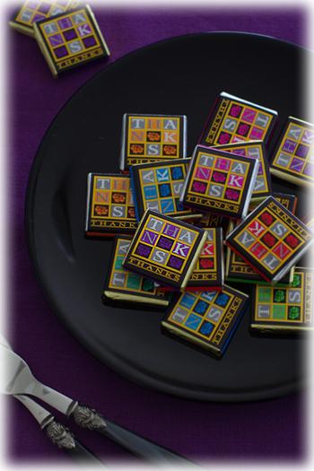 紫のチョコレート