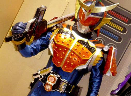 ナムコアクションミュージアム 東映ヒーローワールド チケット売り場 仮面ライダー鎧武 オレンジアームズ