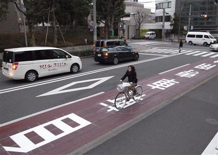自転車レーン京都府