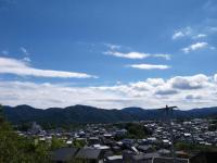 ウチから見た朝熊山