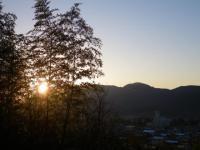 早朝の朝熊山