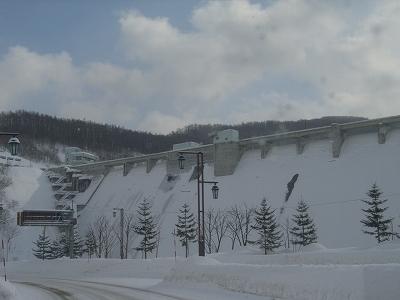 冬場のダム