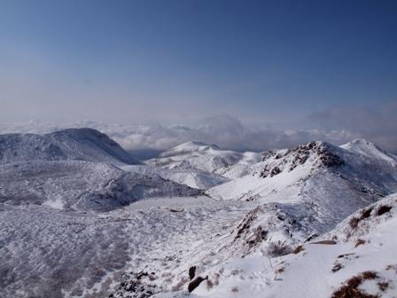 中岳山頂からの山々P1032743