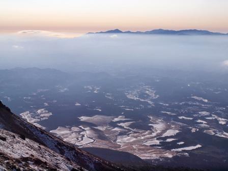 久住山山頂から祖母系P1182856
