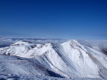 天狗ケ城山頂から肥前ケ城星生山P1182962