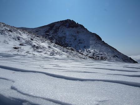 雪の波と久住山P1182981