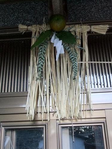 2012.1.3 お正月の玄関飾り 022