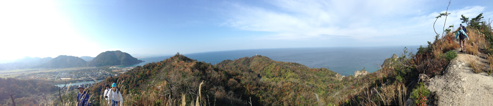 沓井裏山から見る景色パノラマ