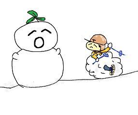 森の雪だるま 5