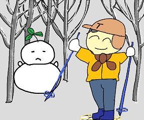 森の雪だるま 2