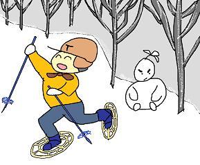 森の雪だるま 3