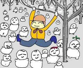 6森の中の雪だるま