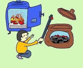 消し炭の壺