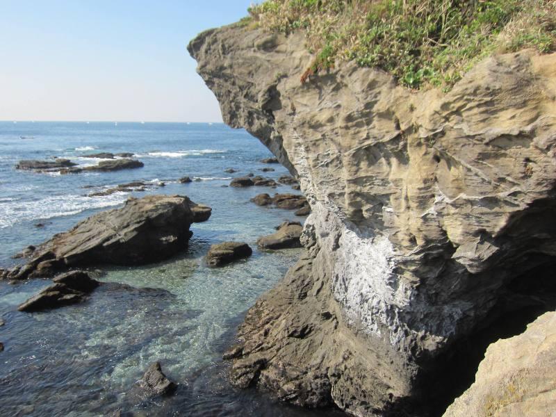 城ヶ島の地層1