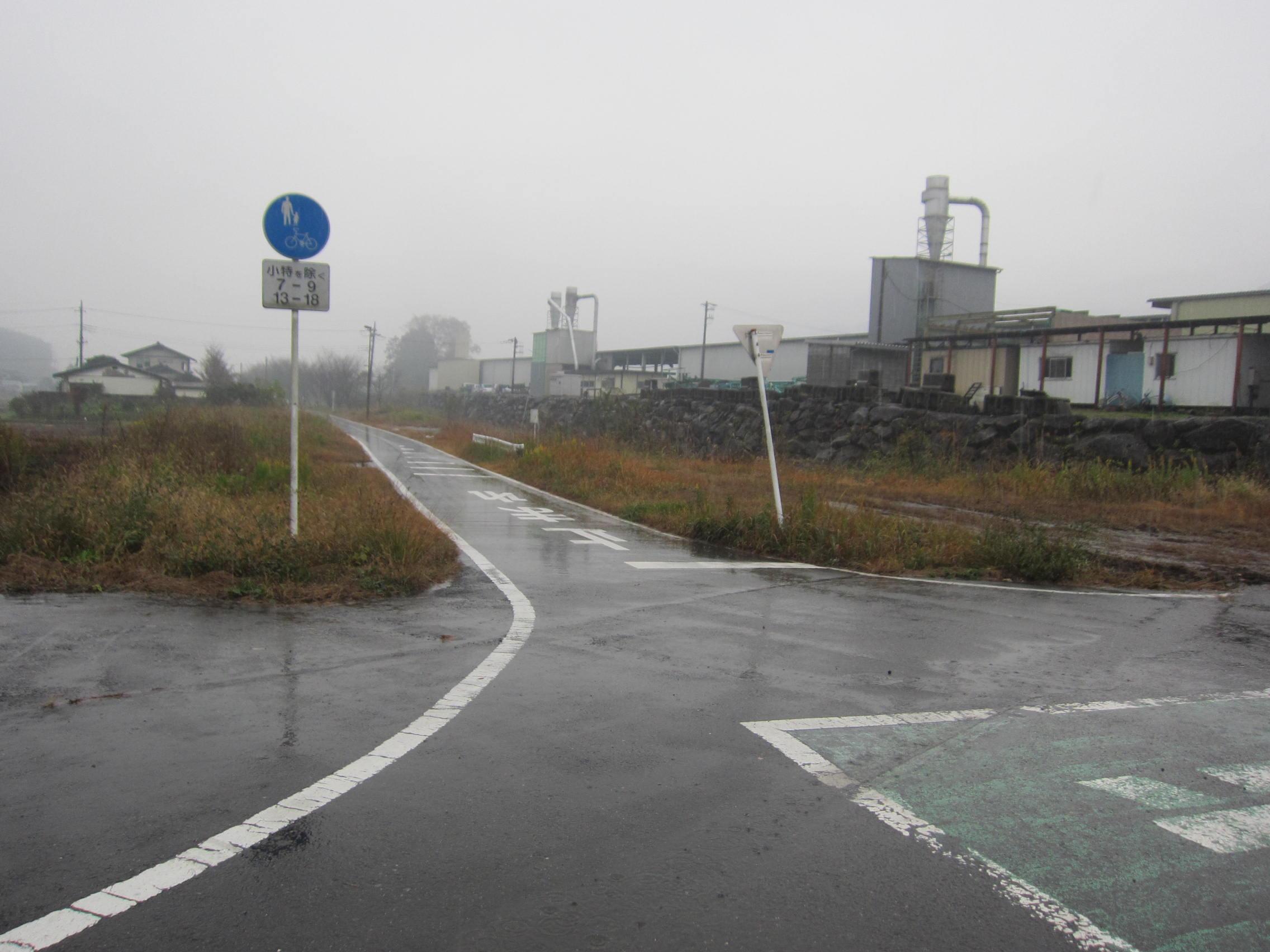 日光鉱山 鉱山鉄道の線路跡