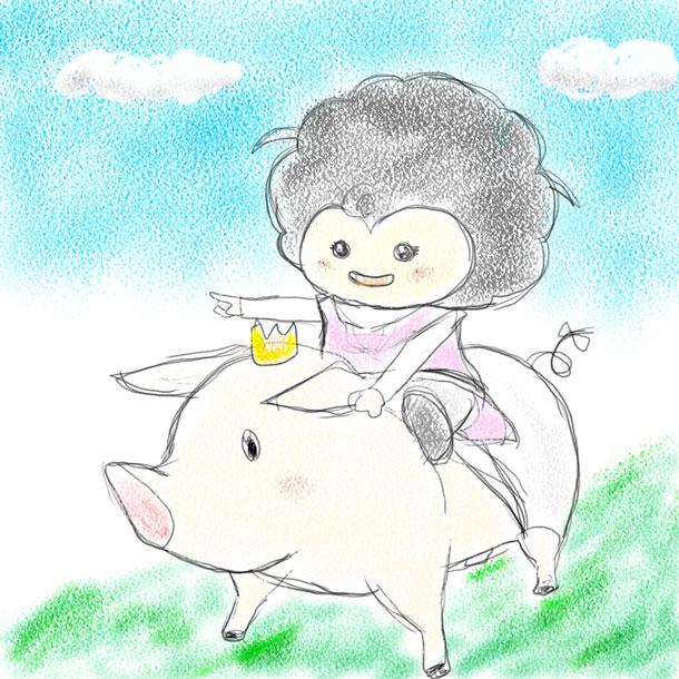 みかんと豚
