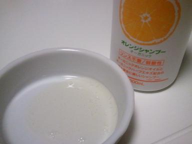 オレンジシャンプー1