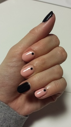 BLACK × Beige  Pink